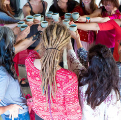 Casting Ceremonies are a celebration of sisterhood. We invite everyone who identifies as female to cast and to participate.