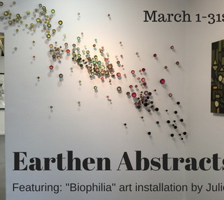 """Earthen Abstracts"" at CK Art, Sacramento, CA, March 1 - 31, 2018"