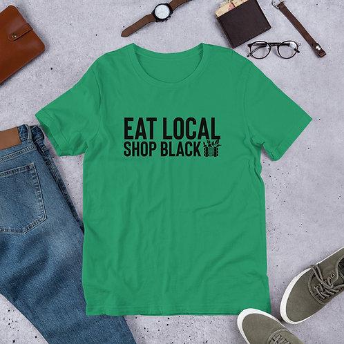 Eat Local Shop Black Tee