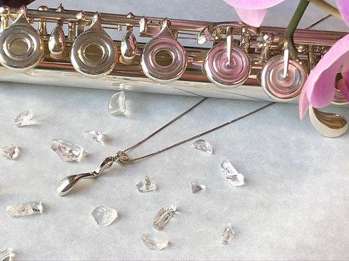She.Flutehome 925 sterling sliver Crystal Flute Trill Key
