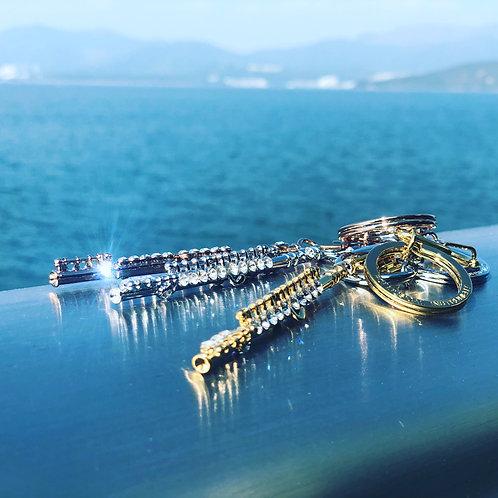 Roi Flute Key Ring 長笛水晶鑰匙圈