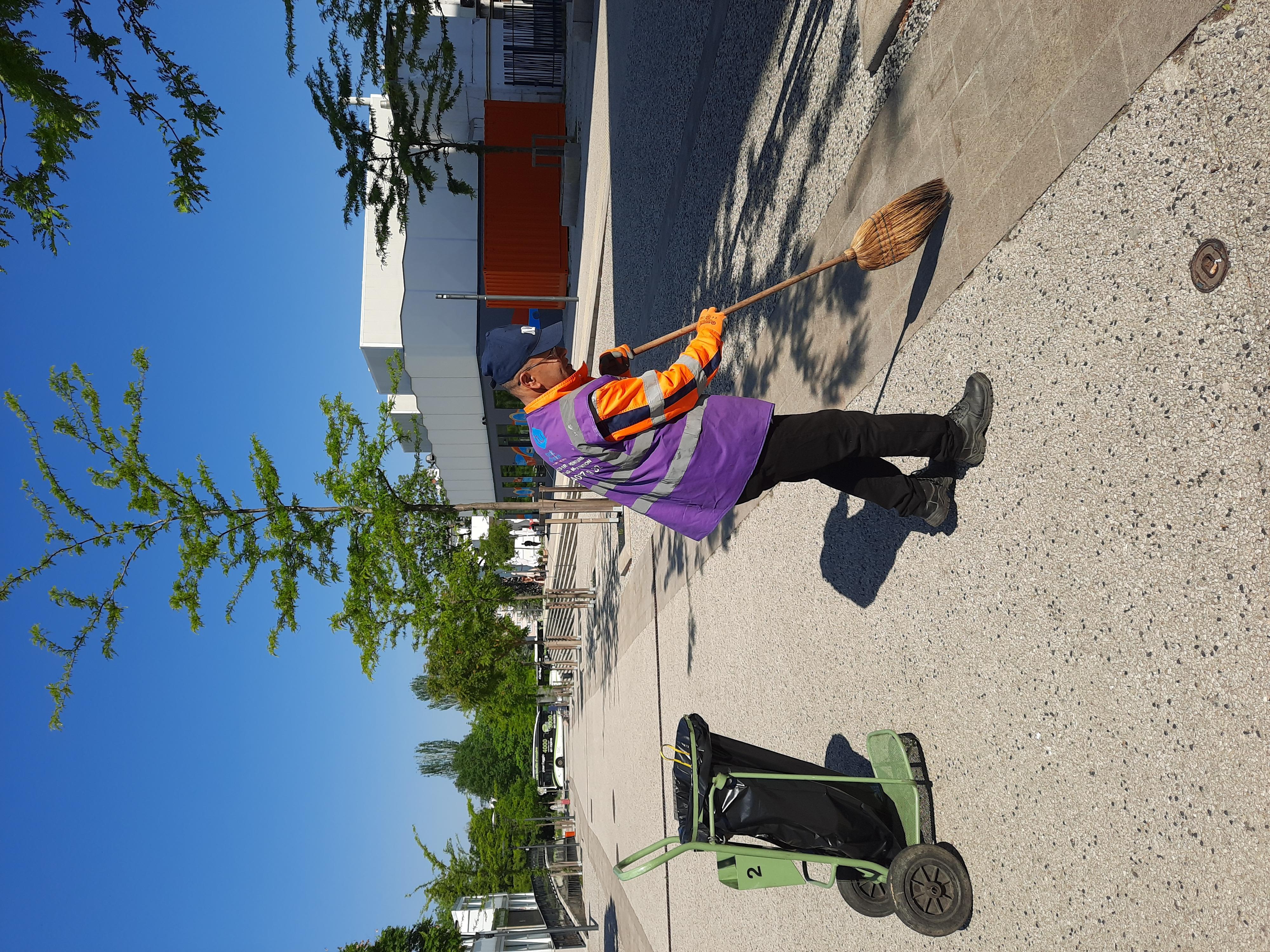 Nettoyage des espaces urbains