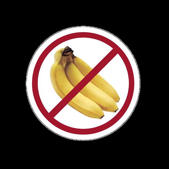 "4.5"" x 4.5"" No Bananas"