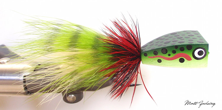 Rainbow Trout Balsa Popper 6/0