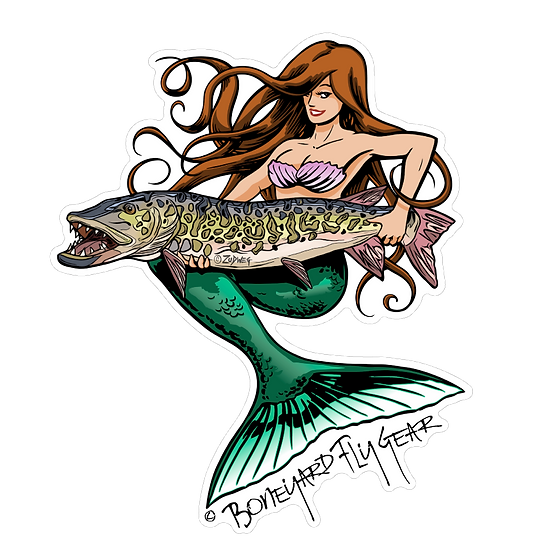 "5"" x 6"" Mermaid Musky"
