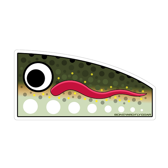 "3.25"" x 6.5"" Rainbow Popper Decal"