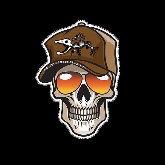 """4"""" x 5.75"""" Trucker Skull"""