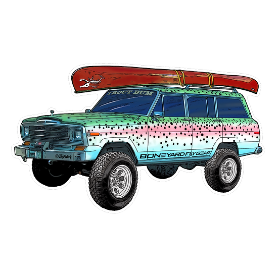 "3.5"" x 6"" Troutbum Wagoneer"