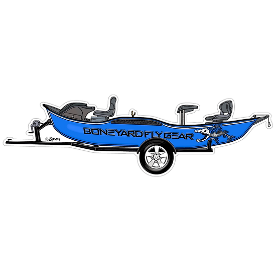 "2"" x 6.75"" Blue Drift Boat"