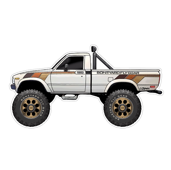 """3.25"""" x 6"""" SR5 Toyota Hilux"""
