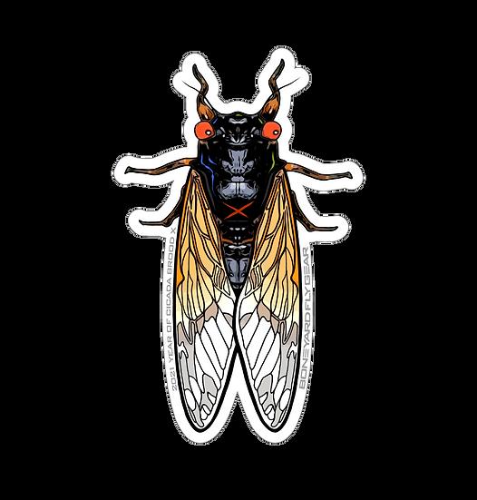 """3.5"""" x 5.5"""" Cicada Brood X"""