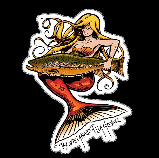 """5"""" x 6.5"""" Mermaid Brown Trout"""