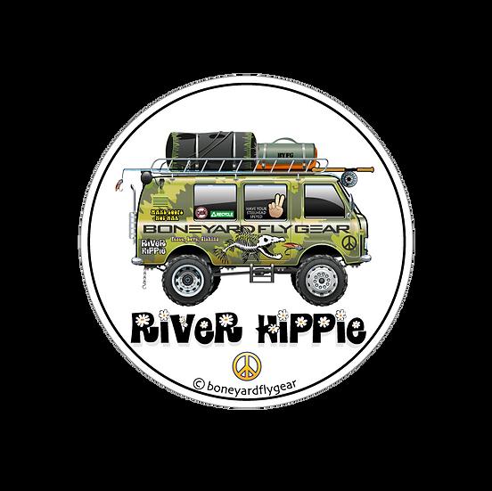 """4.5"""" x 4.5"""" River Hippie"""
