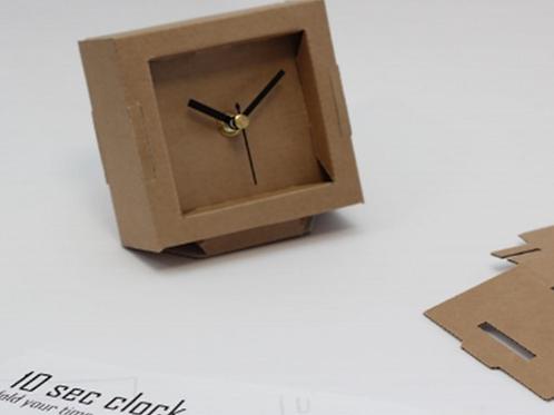 שעון קרטון - DIY