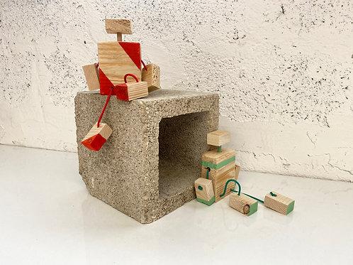 צעצוע רובוט מעץ ממוחזר - DIY