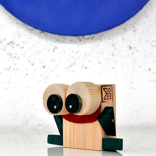 צעצוע ינשוף מעץ ממוחזר - DIY