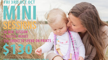 MINI SESSIONS ANNOUNCEMENT!!