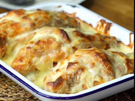 Croque Monsieur Croissant Lasagna