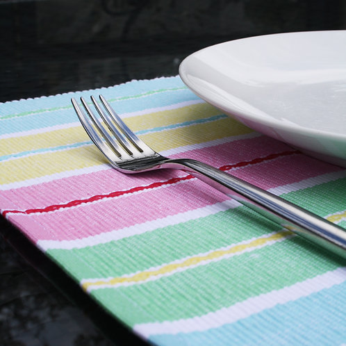 Multi Coloured Ribbed Placemat