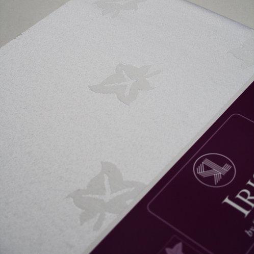White Leaf Print Table Cloth