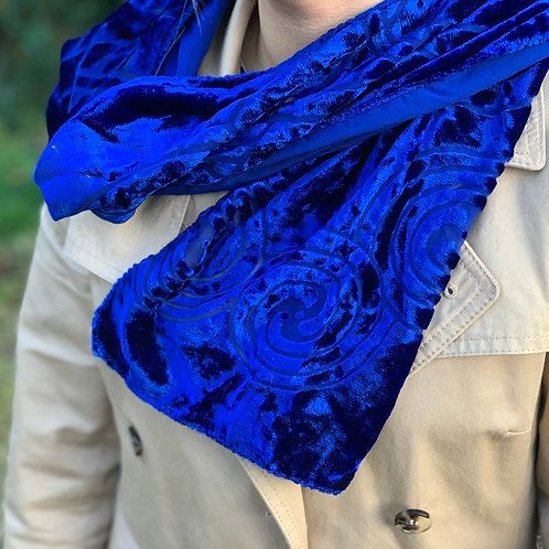 Celtic Scarf Topaz Blue