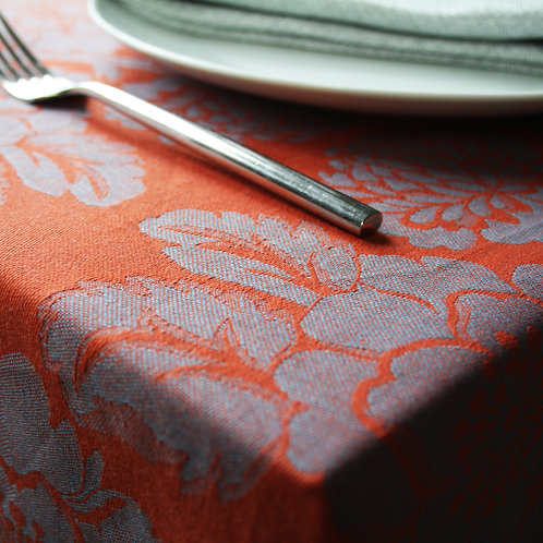 Chrysanthemum Tablecloth (Orange)
