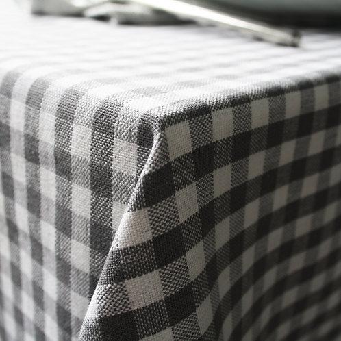 Greenwich Grey Check Tablecloth