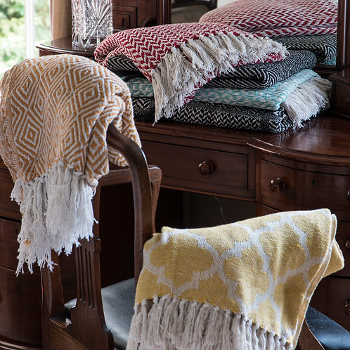 Cotton Patterned Throws