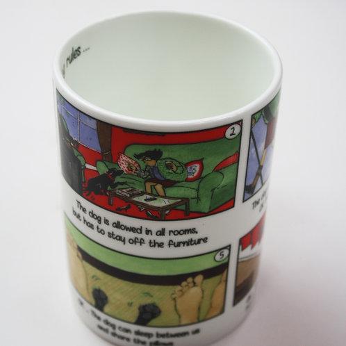 Tottering Dog Rules Mug