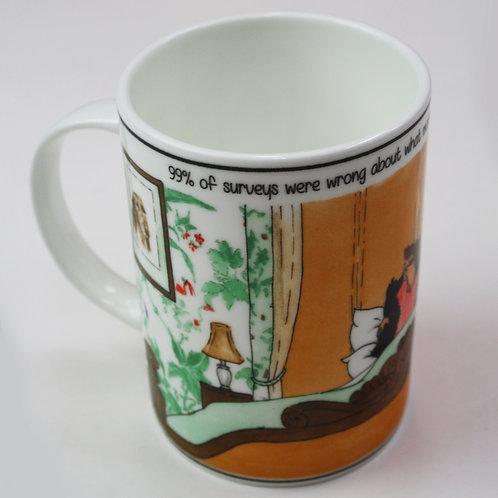 Tottering 99% of Surveys Mug