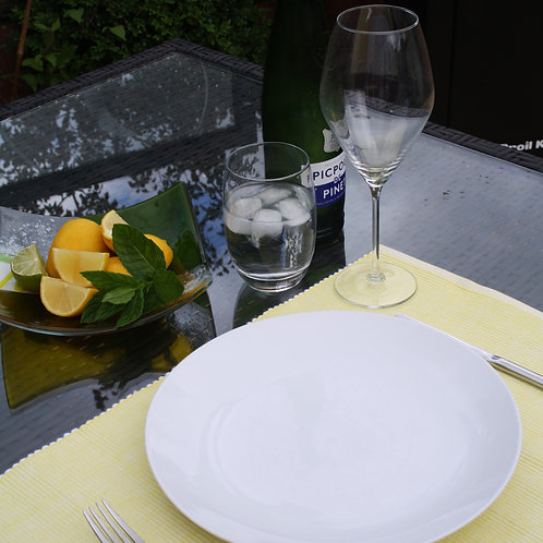Lemon Two Tone Ribbed Placemat