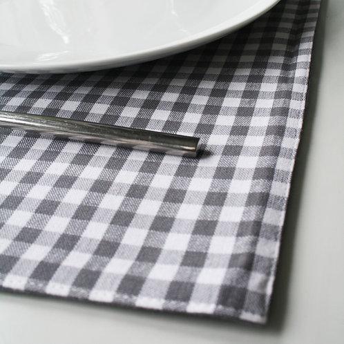 Grey Check Table Runner