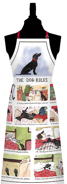 The Dog Rules Cotton Apron 925CA.jpg