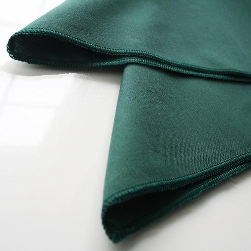 Deep Green Plain Hem Napkins