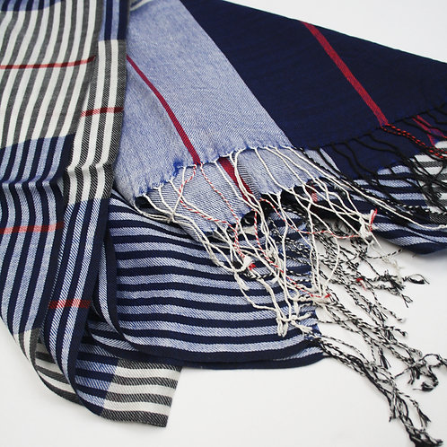 Silk/ Wool Classic Check Scarf