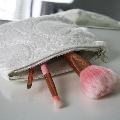 White Makeup Bag