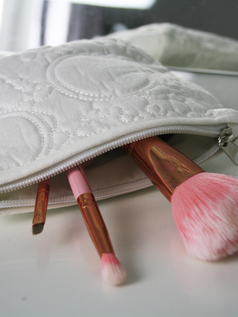 Floral Embroidered Makeup Bags