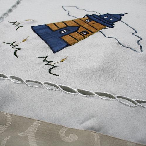 Lighthouse Blue Table Cloth