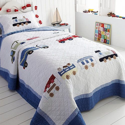 Choo Choo Train Single Duvet Cover
