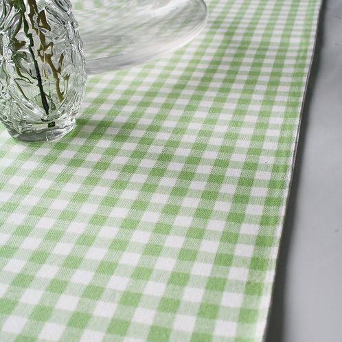 Lime Check Table Runner
