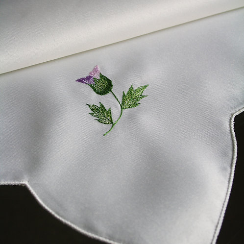 Glamis Thistle Embroidered Napkins