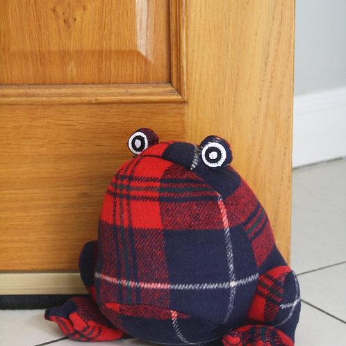 Tartan Hippo Door Stop