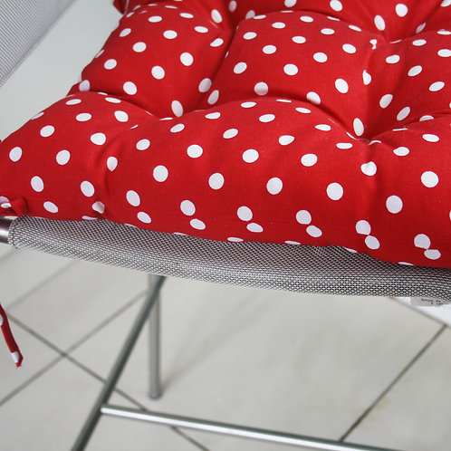 Chair Pad Red Spots