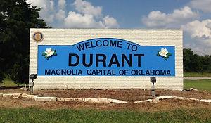 Durant-Magnolia-Capital-northbound-sign-
