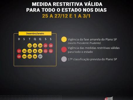 Estado de São Paulo retorna para a fase vermelha durante festas de final de ano