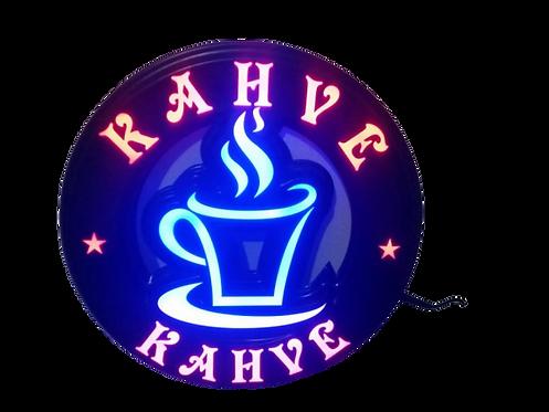 Kahve Led Tabela 40x40 cm Kumandalı 16 renk