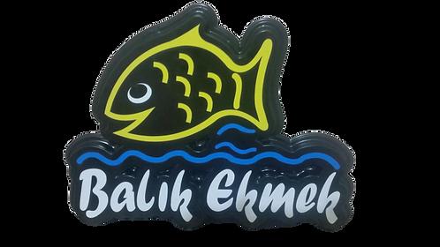 Balık Ekmek Led Tabela  54x43 cm  Kumandalı 16 renk