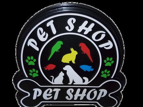 Pet Shop Led Tabela 43x41 cm Kumandalı 16 renk