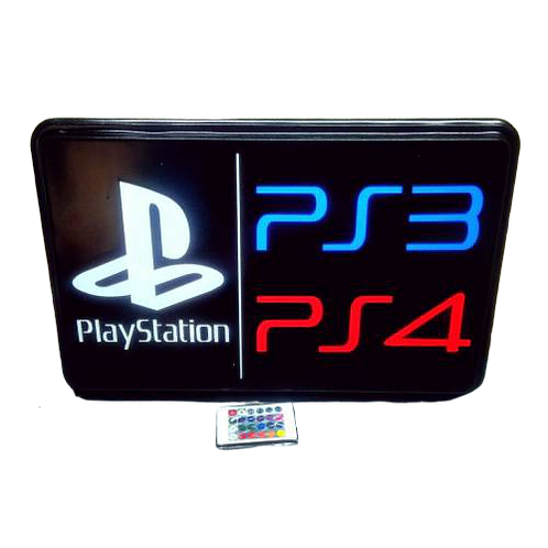 Play Station Led Tabela  47x30 cm Kumandalı 16 renk