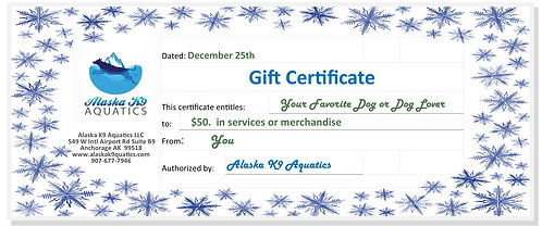 $50. Gift Certificate